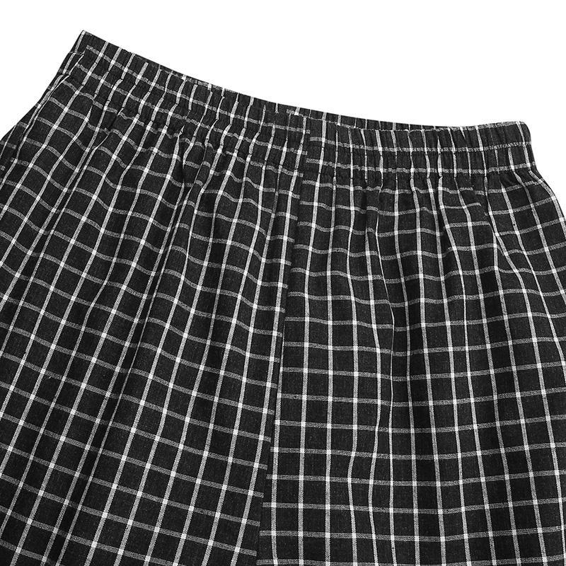 Plus Size Loose Grid Printed Trousers Long Maxi Trousers ZANZEA Women Vintage Pants Casual High Elastic Waist Wide Legs Pants