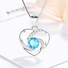 Ожерелье в форме сердца из серебра 925 пробы ожерелье с кулоном