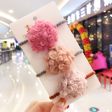 New Girls Cute Colors Nylon Scrunchies Rubber Bands Children Soft Cashmere Elastic Hair Bands Kids Lovely Hair Accessories