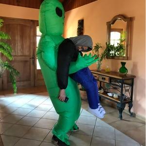 Image 3 - ET Alien מפלצת מתנפח תלבושות מפחידים ירוק Alien קוספליי תלבושות למבוגרים Inlatable תלבושות המפלגה פסטיבל שלב
