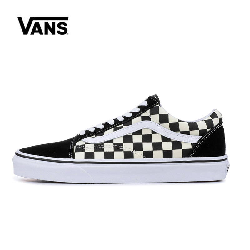 Original  Vans Old Skool Black Checkerboard And Women's Sneakers Vans Shoes Men Women Classic Skateboarding Shoes VN0A38G1P0S