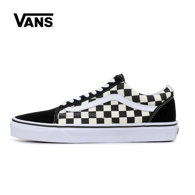 Original  Vans Old Skool Black Checkerboard And Women's Sneakers Vans Shoes Men Women Classic Skateboarding Shoes VN0A38G1P0S