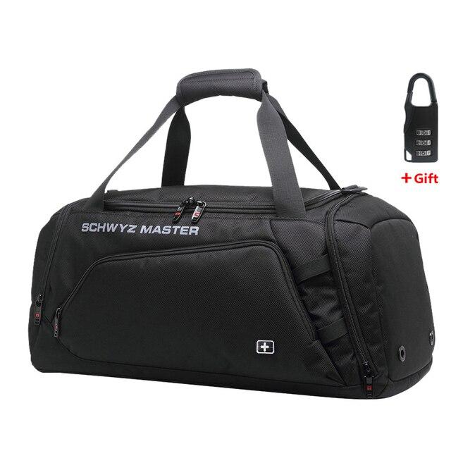 Швейцарская сумка для мужчин, дорожная сумка для багажа, сумка Оксфорд, дорожная сумка, водонепроницаемая сумка для выходных, Большая вместительная сумка на плечо для мужчин