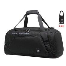 Swissกระเป๋าเดินทางกระเป๋าผู้ชายOxford Duffleกระเป๋าเดินทางกระเป๋าถือกระเป๋าสะพายขนาดใหญ่ความจุไหล่กระเป๋าสำหรับชาย