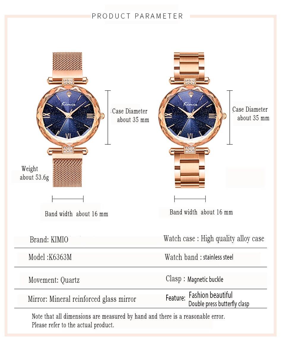 de quartzo aço inoxidável malha cinto relógio