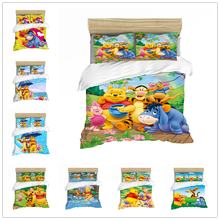 Disney Winnie Comforter Bedding Set Duvet Cover  Pillowcase Girls Bed King Size