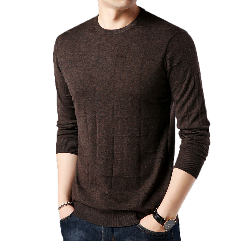 Mens Sweaters Long-Sleeve Jumper Male Winter Fashion Casual M-3XL