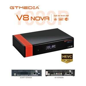 Спутниковый ТВ-приемник GTMEDIA V8 NOVA DVB S2, поддержка IPTV AVS H.265, встроенный Wi-Fi HD цифровой ТВ-приставка, Италия/Германия/Испания