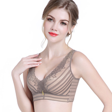 Thick cup money cup bras for women lace lingerie sexy push up bra Bone-free wireless black gather small breast bras push up br