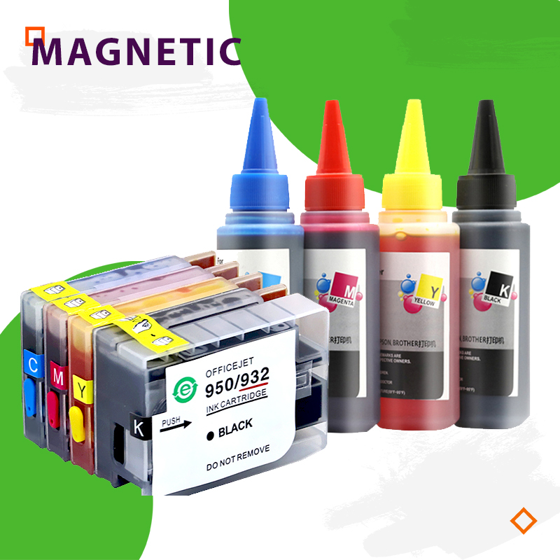 HP950 <font><b>951</b></font> Refillable Ink cartridge Compatible for HP950 951xl for <font><b>HP</b></font> Officejet Pro 8100 8600 8610 8620 8630 8660 8615 8625 251dw image
