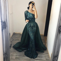 One Shoulder Sequined Ball Gown Evening Party Maxi Dress Burgundy Green Maxi Dress