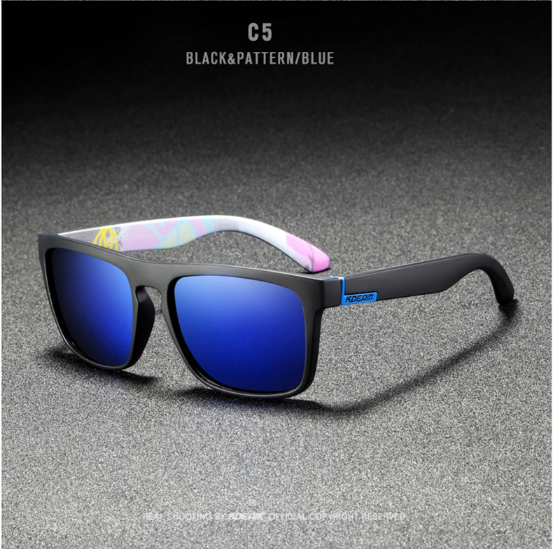 H0a86961780bb42c3a86b8427261a4362k - New KDEAM Mirror Polarized Sunglasses Men Ultralight Glasses Frame Square Sport Sun Glasses Male UV400 Travel Goggles CE X8