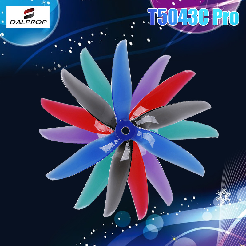 12Pair 24PCS Upgraded DALPROP CYCLONE T5043C PRO 5043 5x4.3x3 3-blade POPO Propeller CW CCW For RC Drone FPV Racing