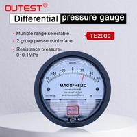OUTEST Pressure Gauge Meter High Precision Air Differential Vacuum Manometer Micro Pressure Gauge Measuring Range 0-30PA~0-30KPA