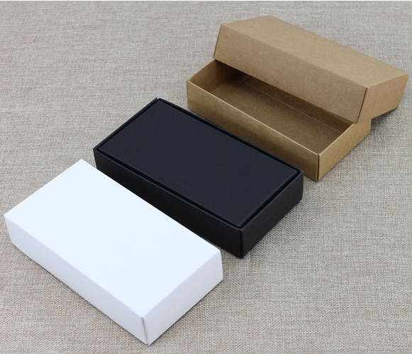 10pcs Blank Cardboard <font><b>Box</b></font> With Lid,White/Black/<font><b>Kraft</b></font> <font><b>Paper</b></font> Carton <font><b>Box</b></font>,<font><b>Large</b></font> Gift <font><b>Box</b></font> Packaging image