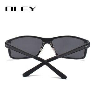 Image 3 - Occhiali da sole quadrati Vintage da uomo OLEY occhiali da sole polarizzati UV400 accessori per occhiali occhiali da sole maschili per uomo/donna Y7160