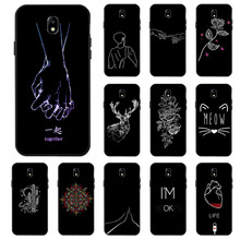 Black Silicone Case For Samsung Galaxy J7 Neo Core Nxt Cases Painted C