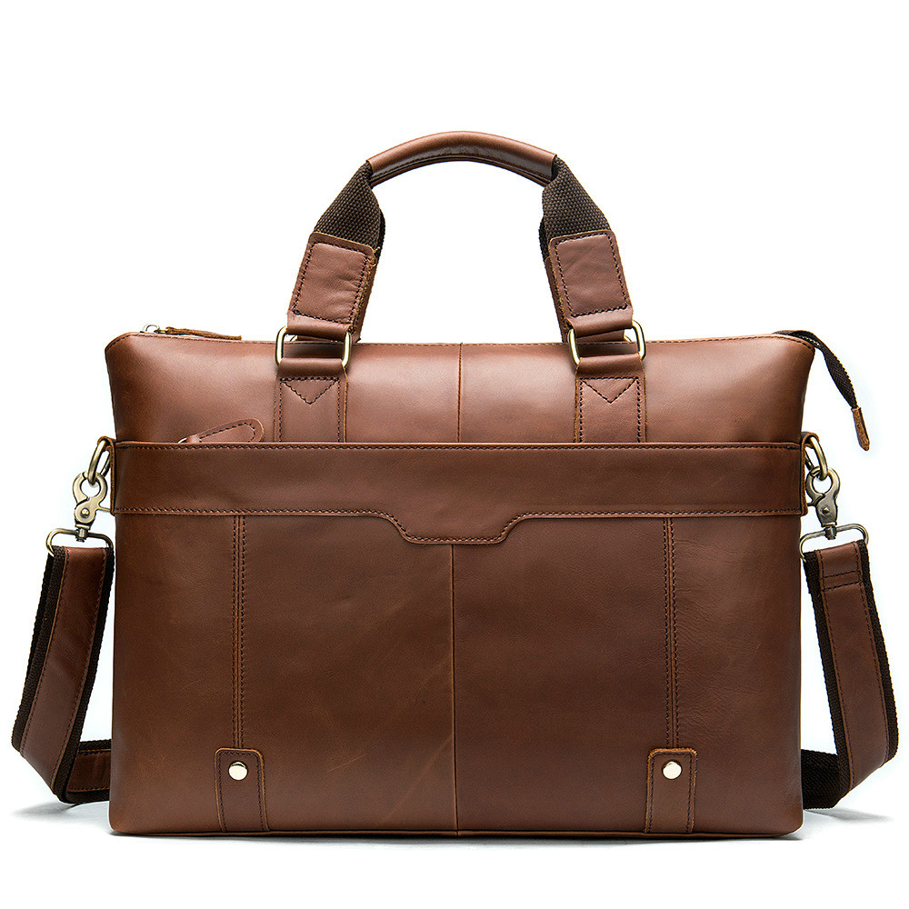 Men's 100% Genuine Leather Briefcase Male Man Laptop Bag Natural Leather For Men Messenger Bags Men's Briefcases For Business