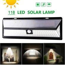 цена на Solar Lamp 118 LED PIR Motion Sensor Lamp Outdoors Waterproof Solar Garden Lights Emergency Security Light Solar Wall Lamp