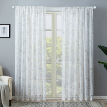 CDIY Modern Floral Tulle Curtains for Living room Bedroom Sheer Curtains Window Screening for Kitchen Drapes Voile Curtain Door cdiy tulle curtains for living room bedroom kitchen modern sheer curtains for window screening linen voile curtains drapes door