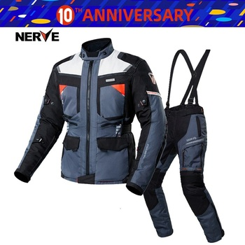 Free shipping 1set 600D Textile CE Armored Waterproof All-Weather Warm 3 Layer Motocross Motorcycle Motorcycle Jacket and Pants