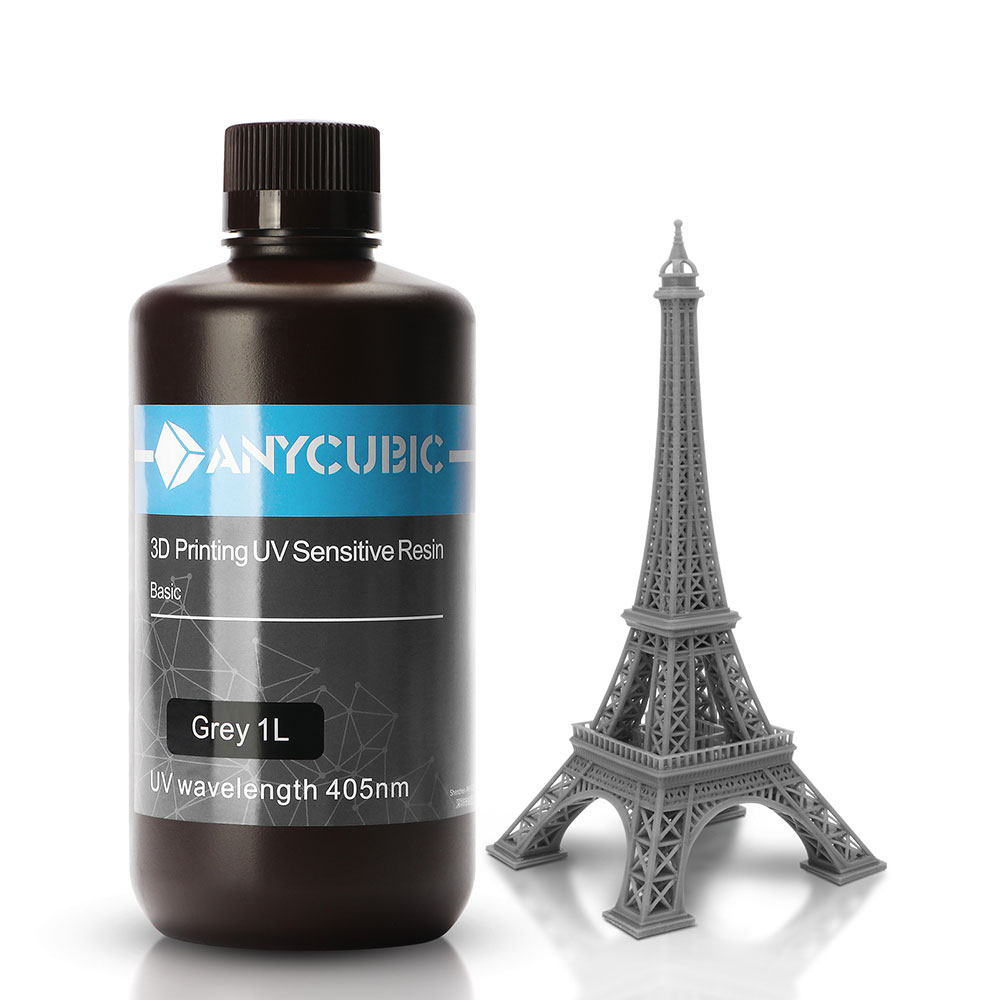 ANYCUBIC 405 нм УФ-смола для ЖК-дисплея высокая точность быстрое отверждение 1 л жидкости бутылка 3D принтер печатные материалы для Photon-S