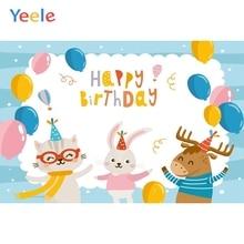 Yeele Cartoon Balloon Animal Photography Backgrounds Baby Birthday Party Custom Vinyl Photographic Backdrop For Photo Studio