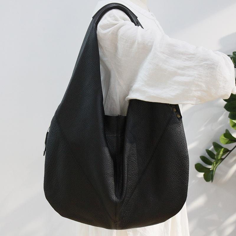 Couro genuíno das mulheres grande saco 2021