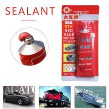 New 85g Car Sealant Glue Strong Adhesive Glue High Temperature RTV Red Fastening Glue For Car Motor Gap Seal Repair Tools все цены