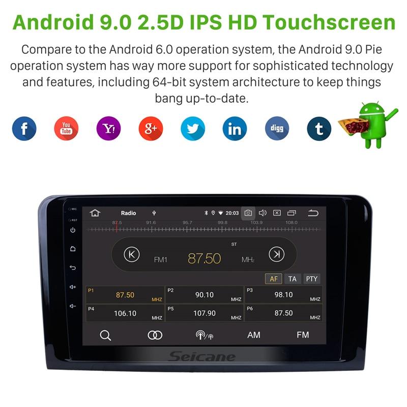 Seicane Android 9.0 IPS pour 2005-2012 Mercedes Benz classe GL X164 GL350 GL420 GL450 GL500/ML classe W164 lecteur d'unité de voiture radio - 6