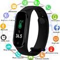 2020 измеряемая температура тела M4Pro смарт-браслет Спортивный Браслет фитнес Bluetooth кровяное давление, умные часы подходят для мужчин и женщин