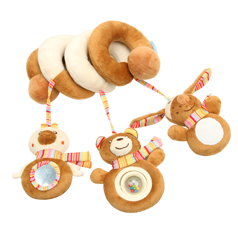 New Style Animal Brown Bear Bed Around Plush Toys Infants Multi-functional Sound Making Pacify Car Around Currently Available Wh