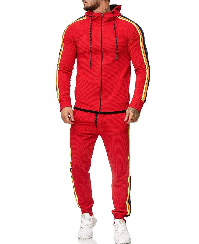 Plus Size L-5XL Mens Sets Mens Fashion Jacket And Sport Pants  2pcs Outfits Set Tracksuit Men Casual Sports Suit Streetwear