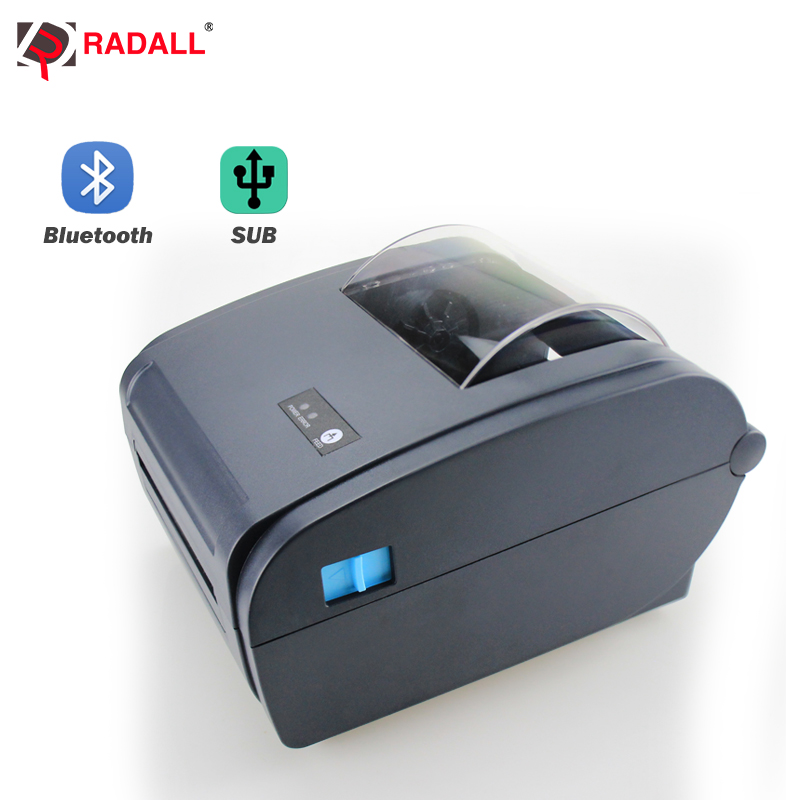 High Speed Thermal Printer Label Printer Barcode Printer 4-inch USB/Bluetooth Shipping Add Auto Peeling Portable Printer RD-9210