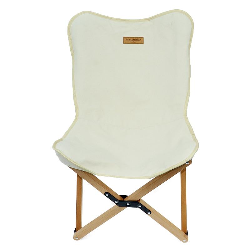 Outdoor Camping Barbecue Lightweight Car Folding Beech Wood Butterfly Chair Leisure Beach Chair Beech Sketching Chair