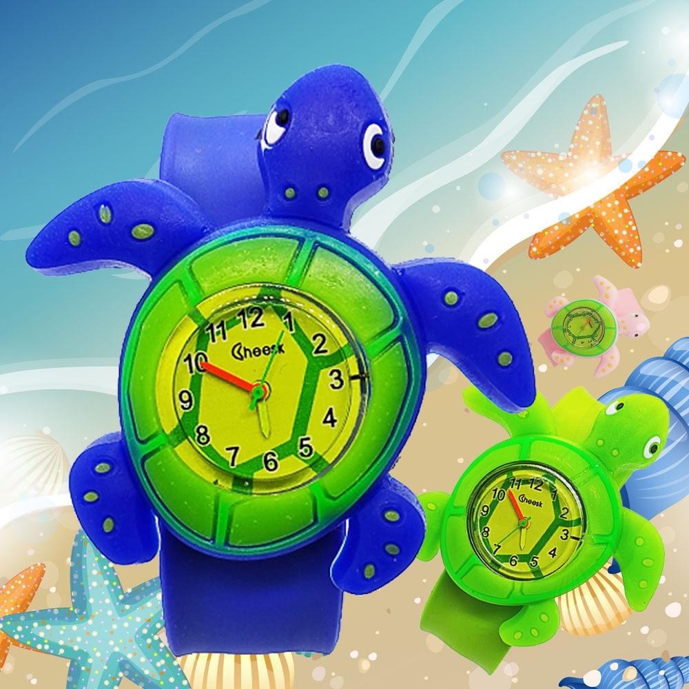 Child Learn To Time Clock Kids Watches Boys Girls Quartz Students Digital Watch Cartoon Turtle Children Tutor Watch Baby Gift