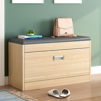 Nordic shoe changing stool shoe storage cabinet wear shoes stool simple multifunction. home furniture shoe rack wood bench