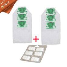 6* Dust Bag Cleaning Cloth + 1* Fragrance tablets Jasmine for Vorwerk VK200 FP200 Vacuum Cleaner Parts