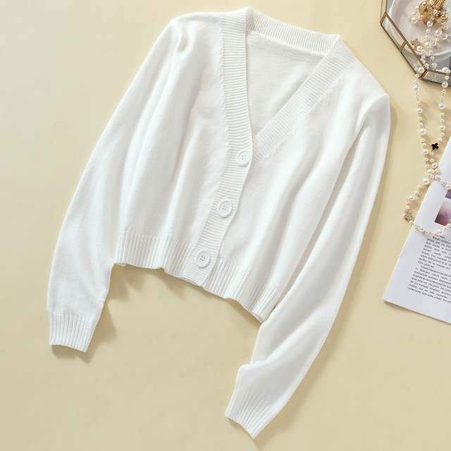 Ailegogo New 2019 Autumn Winter Women's Sweaters Cardigans Minimalist Knitting Tops Fashionable Korean Style Ladies SW8864 3