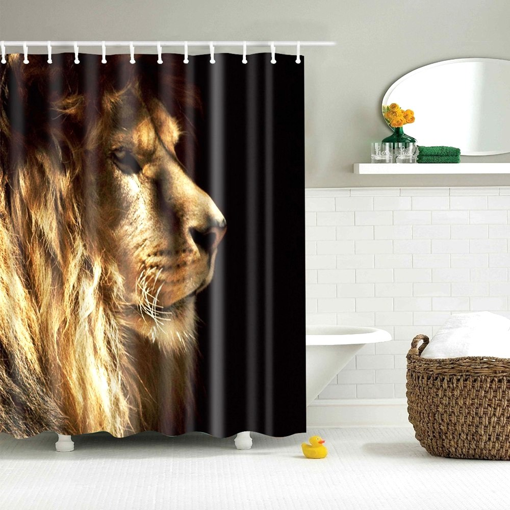 dafield animal bathroom shower curtain