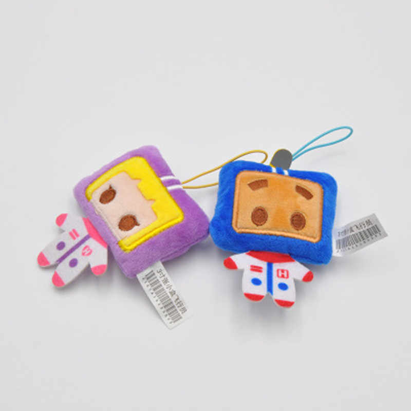 Bonito emoji sorriso rosto Redondo e Macio Stuffed Plush Toy Boneca dos desenhos animados chaveiros Chaveiros mulheres figura Chave Titular Do Telefone