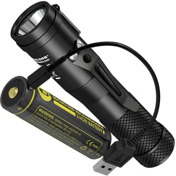 NITECORE C1 CREE LED 1800 LUMENS Flashlight+ 18650 Rechargeable Battery + USB Charging Cable Magnetic Tailcap Lamp FREE SHIPPING