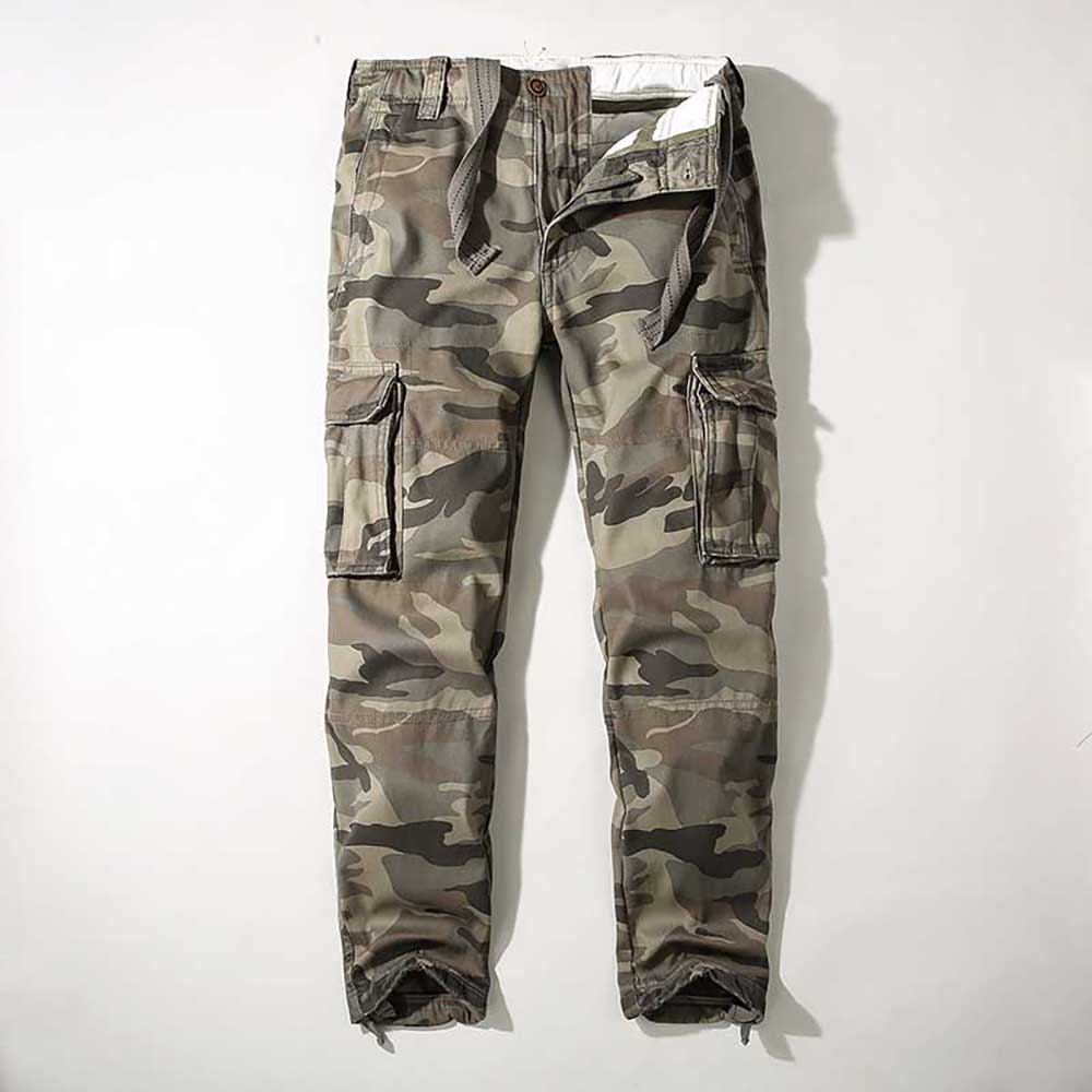 Military Warm Cargo Pants Men Casual Camo Pants Loose Baggy Density Trousers Army Tactical Heavy Joggers Pants Man Clothes