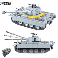 Legoingly Military 990PCS German Panther Tank 121 Building Blocks WW2 Soldier Army Bricks DIY Toys Gift For Children Boys Kids