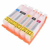 Cartouche d'encre rechargeable vide, cli 581, puce permanente pour canon, PIXMA, TS705, TS6150, TR7550, TR8550, TR9550C