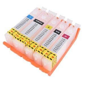 Image 1 - 리필 PGI 580 cli 581 빈 리필 잉크 카트리지 영구 칩 캐논 pixma ts705 ts6150 ts6250 tr7550 tr8550 tr9550c