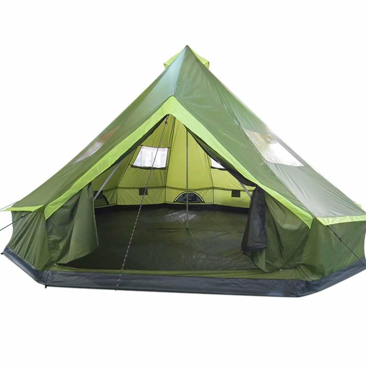 8 أشخاص خيمة تخييم عائلية يورت في الهواء الطلق مقاوم للماء المشي لمسافات طويلة المأوى غرفة واحدة الشاطئ يندبروف السفر الصيد الخيام 500x500x300cm
