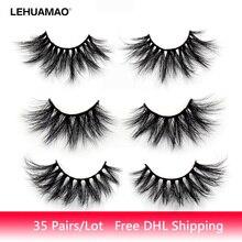 LEHUAMAO 35Pairs/lot  Mink Lashe 3D 25mm Eyelashes Criss-cross Fluffy false eyelashes Popular Dramatic