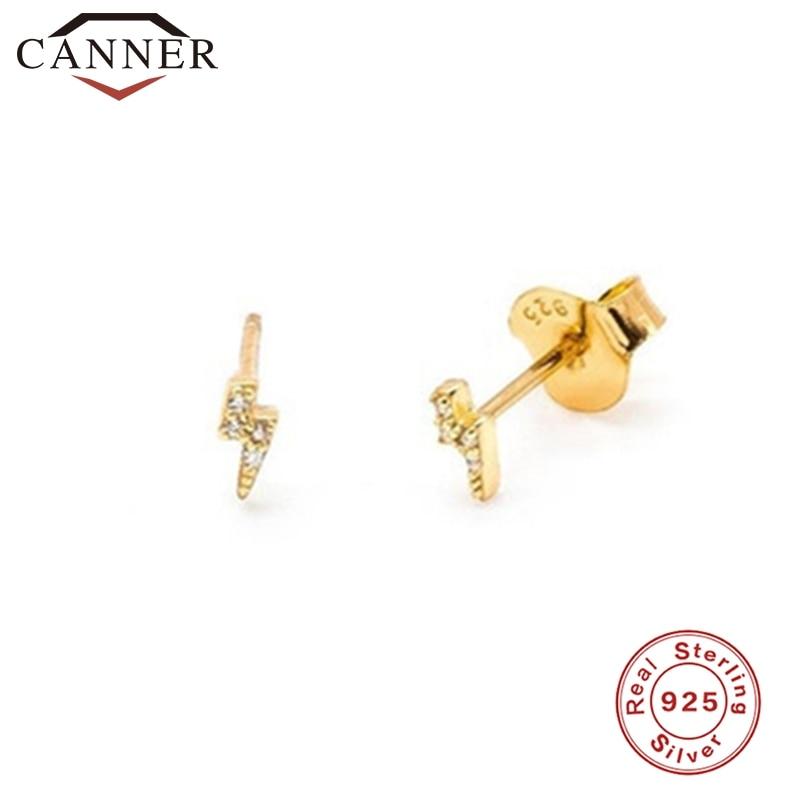 925 Sterling Silver Stud Earrings for Women Simple Smooth lightning/snake/Butterfly Earrings Female Fashion Minimalist Jewelry