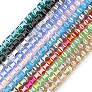 JHNBY kwadratowe kryształki austriackie 8mm 30 sztuk wysokiej szkło wysokiej jakości luźne koraliki do wyrób biżuterii bransoletka DIY akcesoria tanie i dobre opinie CN (pochodzenie) NONE KRYSZTAŁ zawieszki Kwadratowy kształt 20 5g 30pcs moda FK800 AAAAA crystal Multicolor optional Full refund if product are not ok